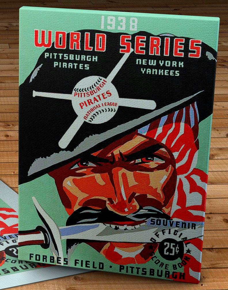 10 x 14 #BB061 Canvas Gallery Wrap New York Yankees World Series Program 1939 Vintage Cincinnati Reds