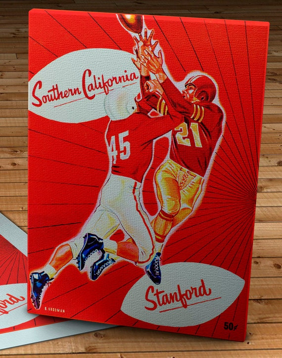 1952 Vintage Chicago Bears-San Francisco 49ers Football Program 12 x 16 Canvas Gallery Wrap