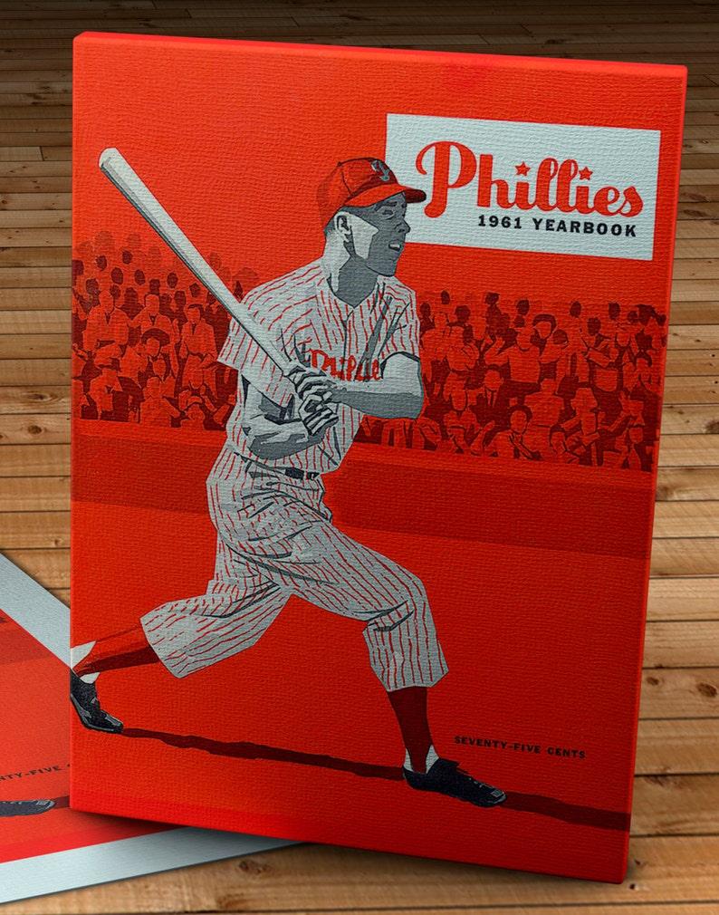 1961 Vintage Philadelphia Phillies Yearbook 12 x 16 #BB119 Canvas Gallery Wrap