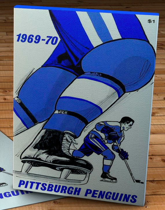 Canvas Gallery Wrap 10 x 16 1969-1970 Vintage Pittsburgh Penguins Yearbook