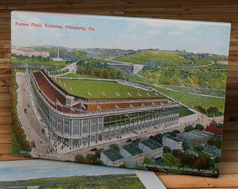 1909 Vintage Pittsburgh Pirates - Forbes Field Postcard - Canvas Gallery Wrap - 16 x 10