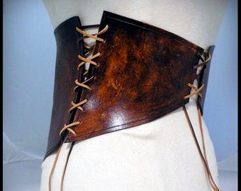 Corset ceinture cuir Yggdrasil cuir tannage végétal   Etsy 97d55cce933