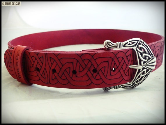 Celtic style belt croupon vegetable tanned leather   Etsy 013bb6dc713
