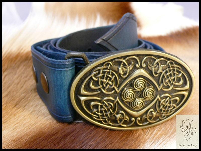Custom Leather Belt celtic vegetable tanned   Etsy 2111a8c6ee3