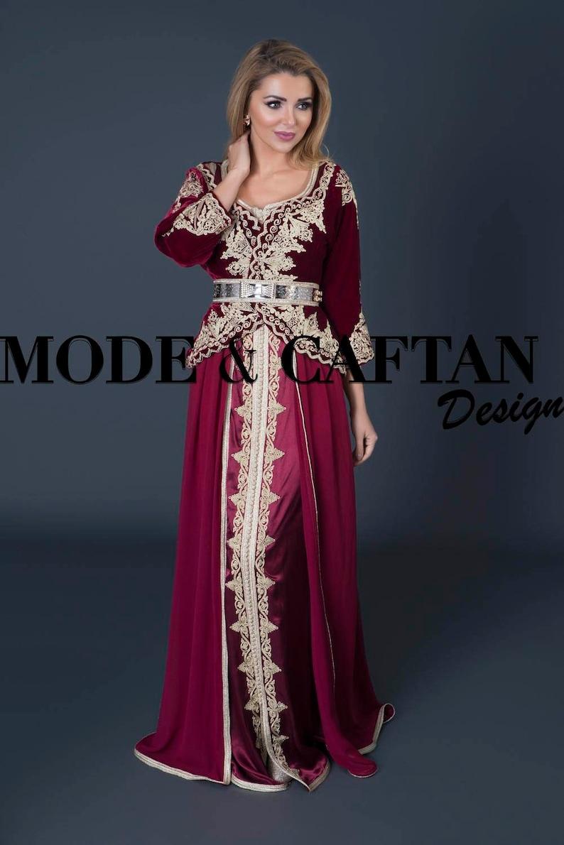 Caftan marocain inspiration algérienne 2017 moderne en vente  b120f5a9c59