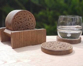 Celtic Knot Coasters Oak