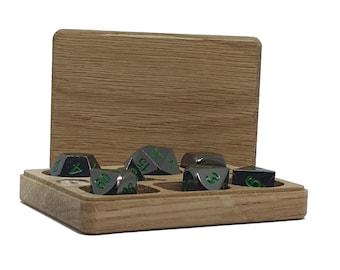 D&D Dice Box - Compact, Oak