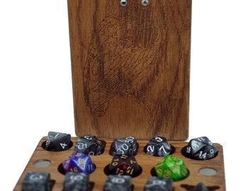 DnD Owl Dice Box - 7poly + 3d6 + 3d20