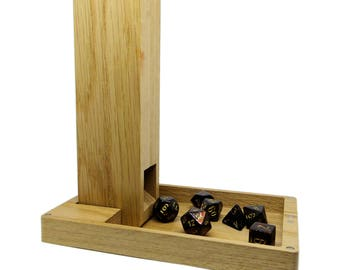 Oak Dice Tower and Tray