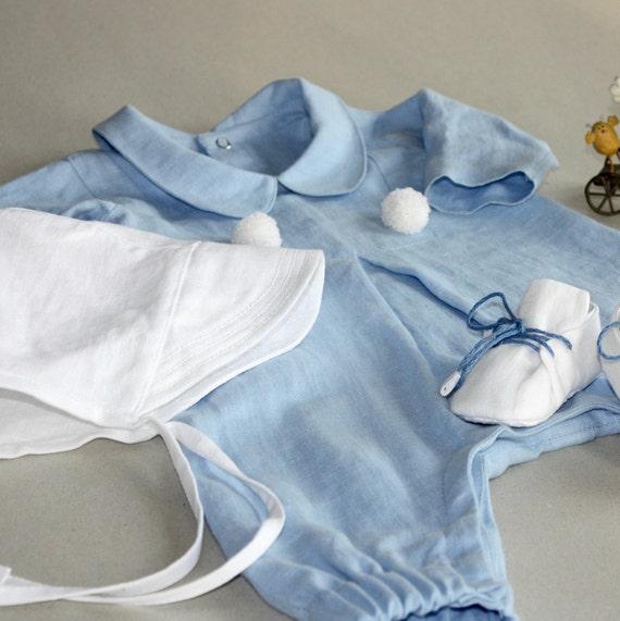 fa16de90f4c4 Natural linen laby boy romper boys linen romper baby linen
