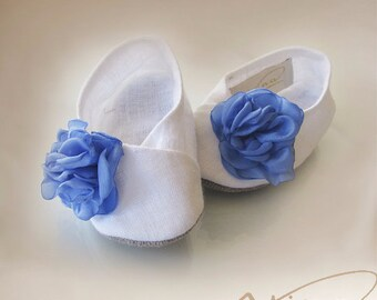 toddler footwear baby girl, footwear newborn baby, footwear online, footwear for baptism, baby shoes, Linen girl's shoes