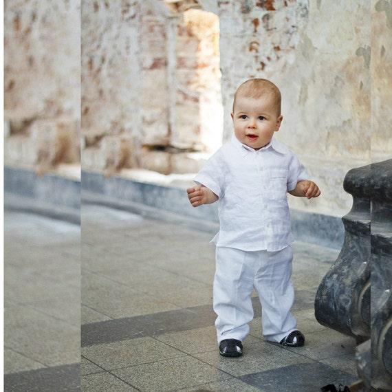 Linen Baptism suit Baptism pantsChristening Gown Linen | Etsy