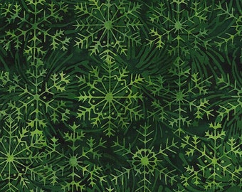Timeless Treasures Small Vines Allover Island Green C5440 Cotton Fabric by the Yard