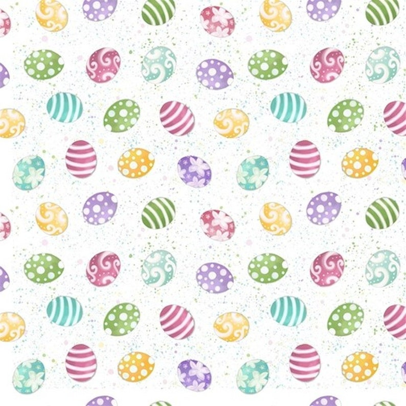 Blank Fabric Hoppy Easter Patt B-9426 Col 01 /%100 Color Quality Cotton by Fat 14 Yd and YARDAGES