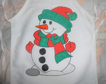 Snowman Hand Painted Child's Apron