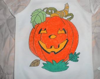 Happy Pumpkin Hand Painted Child's Apron