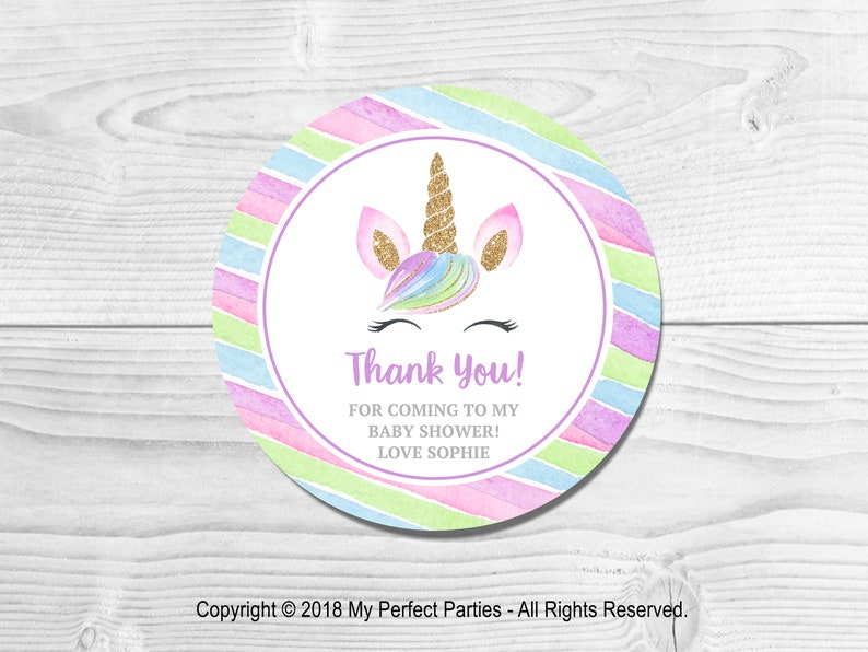 Glossy Personalised Pink Washing Line Baby Shower Thank You Stickers Blue Washing Line Stickers Sweet Cone Stickers Pack of 35