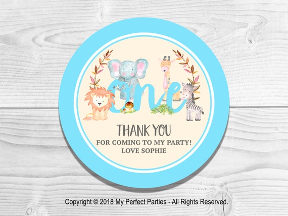 Personalised Birthday Polka Dots Stars Girl Thank You Party Stickers Sweet Cones