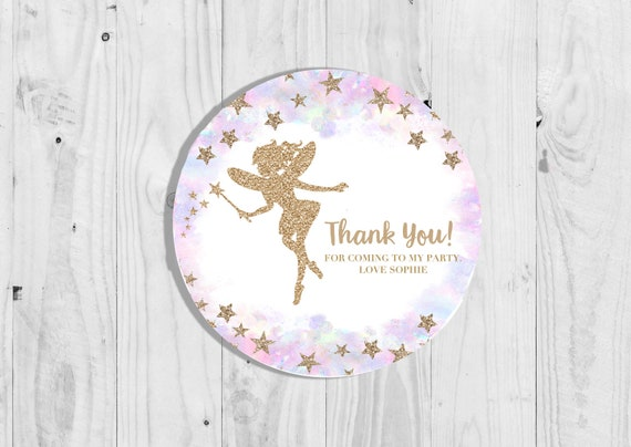 Glossy Childrens Birthday Party Stickers Personalised Princess and Superhero Birthday Party Stickers Thank You Seals Pack of 35 Sweet Cone Stickers