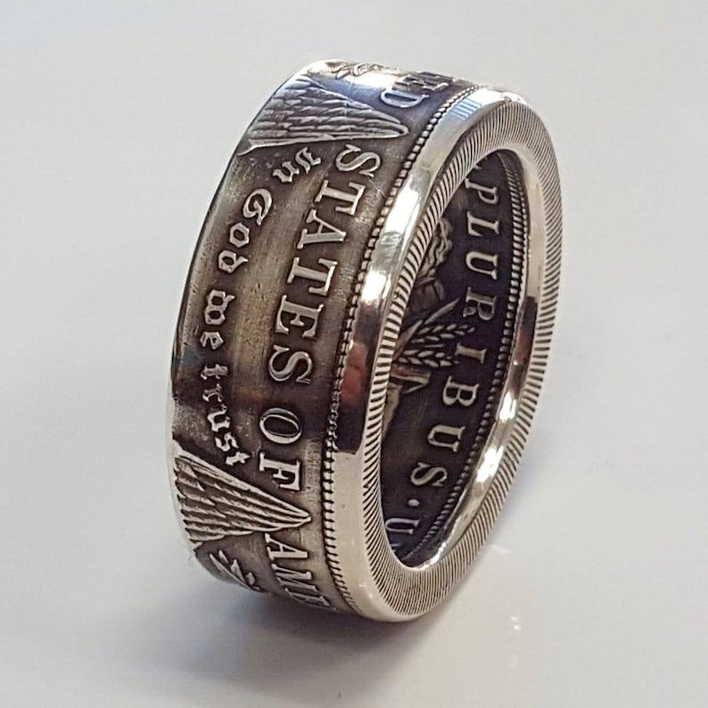 Morgan Silver Dollar Coin Ring