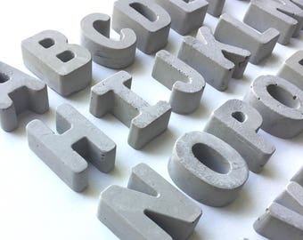 Concrete Letters | Industrial Decor | Mini Letters | Cement Letters| Urban Decor | Modern Decor| Father's Day | Office | Mother's Day |