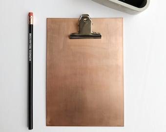 Copper Clipboard | Copper Office Decor | Mini Clipboard | Reclaimed
