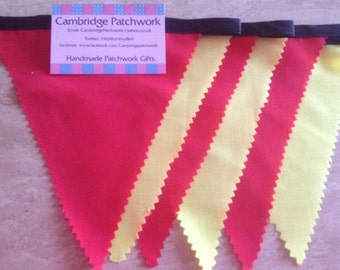 "Handmade Affordable ""Red and Yellow"" SPANISH Bunting, ideal for Chinese New Year"