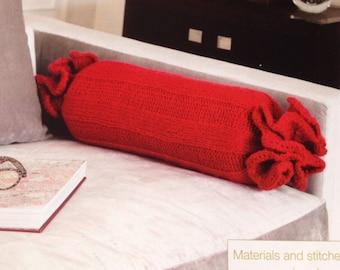 Bolster Cushion Knitting Pattern