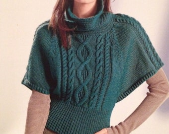Ladies Knitted Batwing Sweater Knitting Pattern