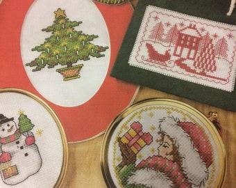 37 x Victorian Christmas Motifs Cross Stitch Charts