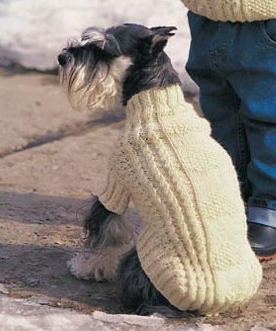 ARAN KNITTED DOG COAT PATTERN  BONES