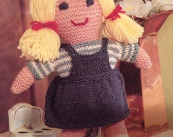 Lucy Country Cousin Knitted Doll - Knitting Pattern
