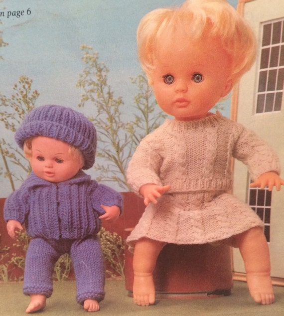 Baby size Knitting Pattern Dolls Clothes Visiting Friends