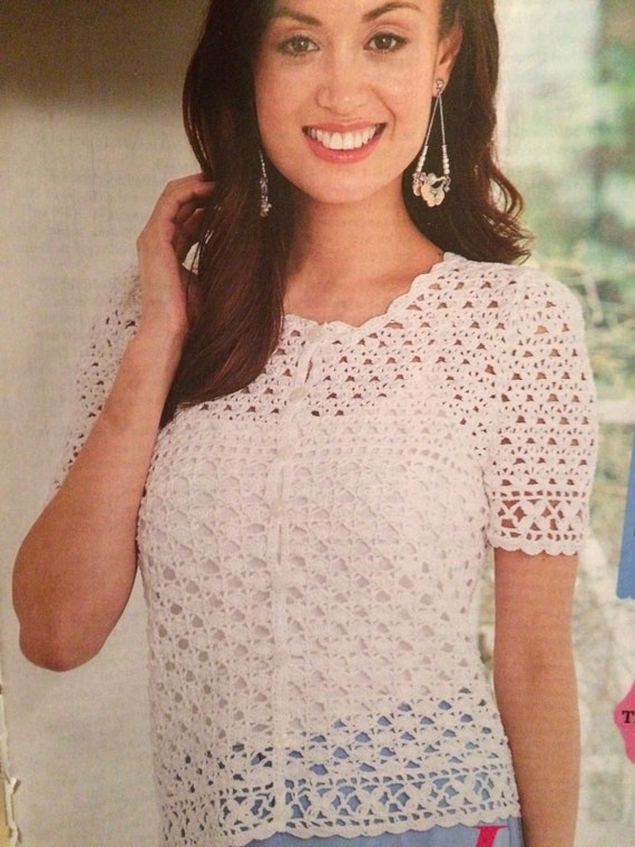 Ladies Summer Lace Top Crochet  Pattern