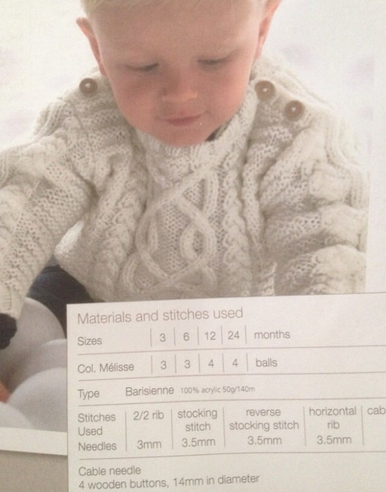 7626c4a02866 Baby Cable jumper Knitting Pattern