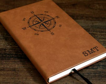 Monogrammed Leather Journal e66465dc4939