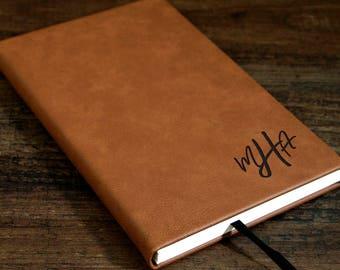 monogrammed journal etsy