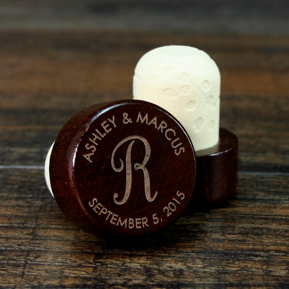 Personalized Wine Stopper Engraved Wedding Favor Custom Etsy