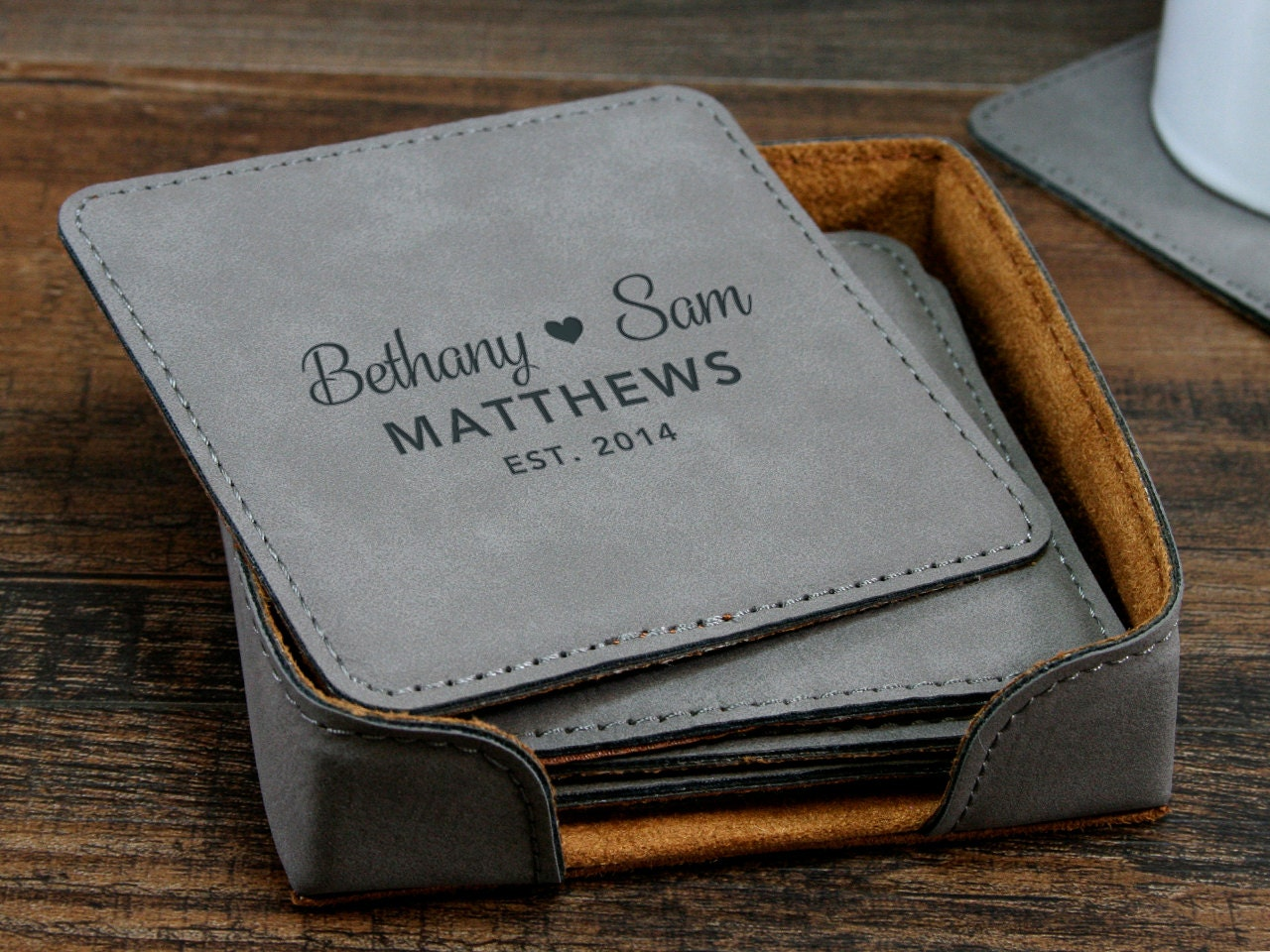 Home Decor Personalised Leather Coaster Corporate Gifts