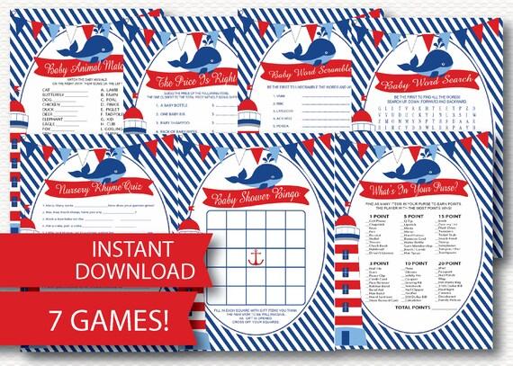 Nautica Bebe Ducha Juego Pack Instant Download 7 Ducha Etsy