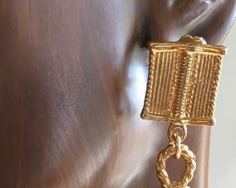 Gold African Earrings