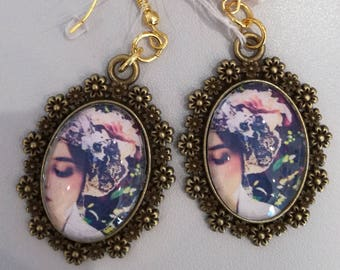 """Romantic retro"" earrings"