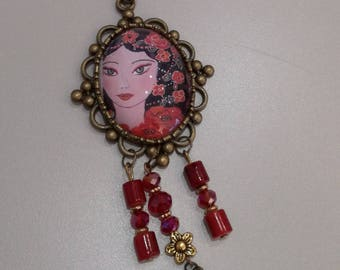"""Derived from my painting """"Andalucia"""" necklace"""