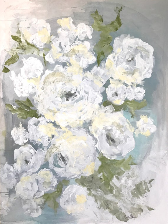 SUMMER ROSES -  original acrylic painting
