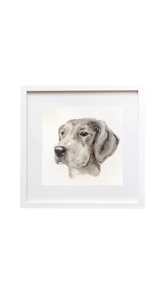 "Watercolor 11""x14"" Custom Pet Portrait"
