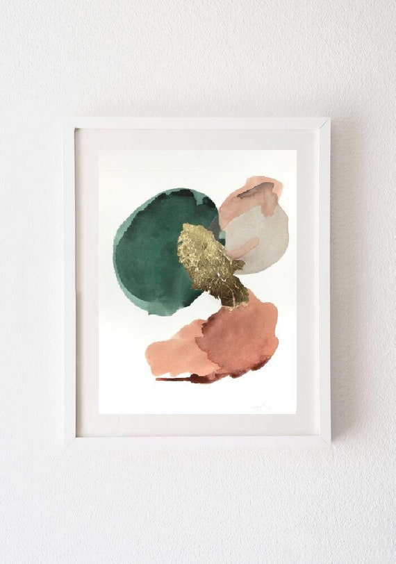 SOLARIA series -  original acrylic paintings w/ gold leaf