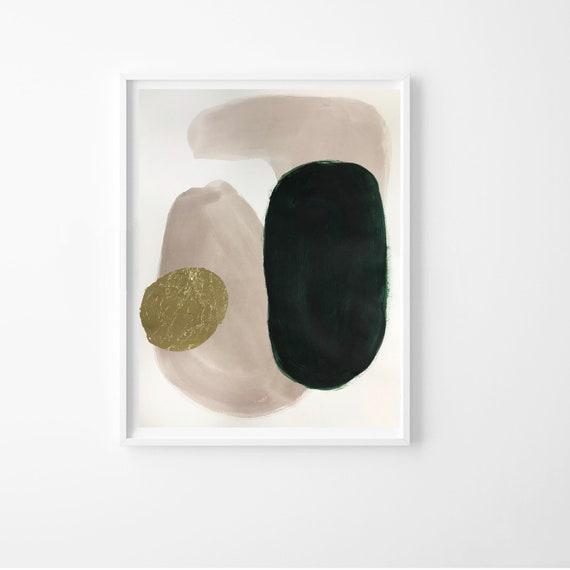 JEWELED I, II -   original acrylic paintings w/ gold leaf