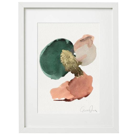 SOLARIA - original acrylic painting w/ gold leaf