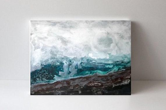 EMERALD SEA - original acrylic painting