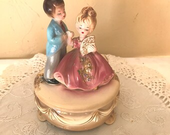 Vintage Music Box- Wedding Couple Young Lovers by Josef Originals-